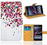 Sony Xperia E1 Housse Coque, FoneExpert Etui Housse Coque en Cuir Portefeuille Wallet...