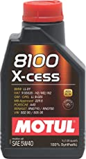Motul 8100 X-Cess 5W-40 API SN/CF Fully Synthetic Gasoline and Diesel Engine Oil (1 L)