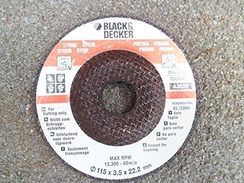 Black & Decker Stone cutting disc for grinding Test