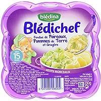 Blédina Blédichef Fondue de Poireaux/Pommes de Terre/Gruyère 250 g - Pack de 9