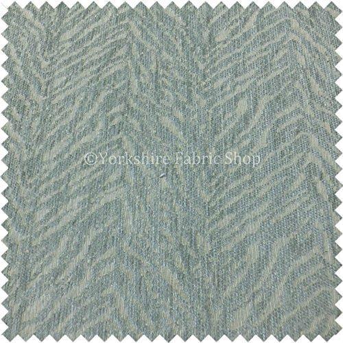 Yorkshire Fabric Shop One Off Semi Uni Abstrakt Design in Duck Egg Blau Farbe weiche Chenille Möbelstoff - Blau Chenille Möbelstoff