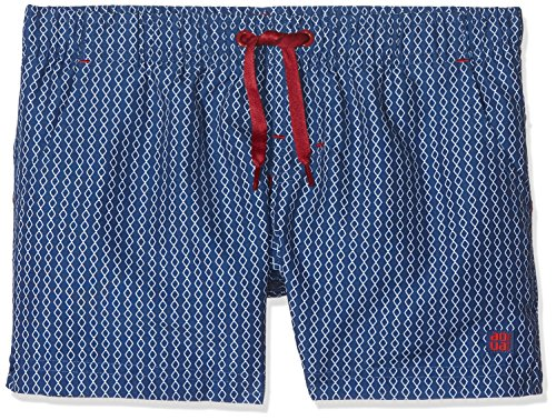 Schiesser Mädchen Badeshorts Beach-Shorts, Mehrfarbig (Indigo 824), 128