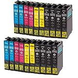 silvertrade Multipack–cartouche d'encre pour Epson WF–3620(lot de 20) multicolore