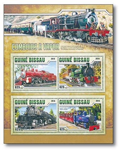 Big Boy | die größte Dampflok der Welt | Guinea-Bissau | postfrisch | Briefmarken-Block | Motiv-Briefmarke | historische Dampflokomotiven | Briefmarkensammler (Guinea Block)