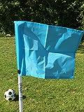 Set di quattro bandiere pieghevoli per angoli, con borsa per il trasporto, Sky Blue