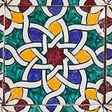 Orientalische Keramik Fliesen handbemalte marokkanische Motiv Fliese 10 x 10 cm Hadiya