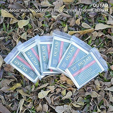 U-kiss étanche Couverture de survie pour extérieur de survie Thermal First Aid, Lot de 10