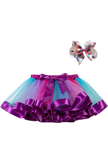 for 3-10 Years Old Fashion Girls Kids Tutu Tulle Party Dance Ballet Toddler Rainbow Baby Dress
