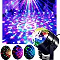 Party Lights Disco Ball Projector Color Changing Sound Activated Rotating Ball Stage Effect with Remote Control for Disco KTV Club Bar Home Party