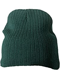 MB RIBBED BEANIE KNITTED BEANY CAP HAT - 8 GREAT COLOURS
