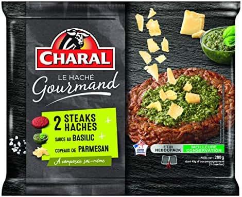 Charal Steaks Hachés Sauce au Basilic/Copeaux de Parmesan 160 g