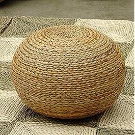 Tabouret Rond Rotin Tabouret Tabouret Paille Meubles Leisure Tabouret Assise Tatami Assis sur la jetée Nain Creative…