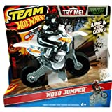 Mattel W5437 - Team Hot Wheels Moto Innovation Jump, Motorrad mit Figur