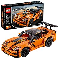 LEGO 42093 Technic Chevrolet Corvette ZR1 Race Car, 2 in 1 Hot Rod Toy Car Model, Racing Vehicles Collection