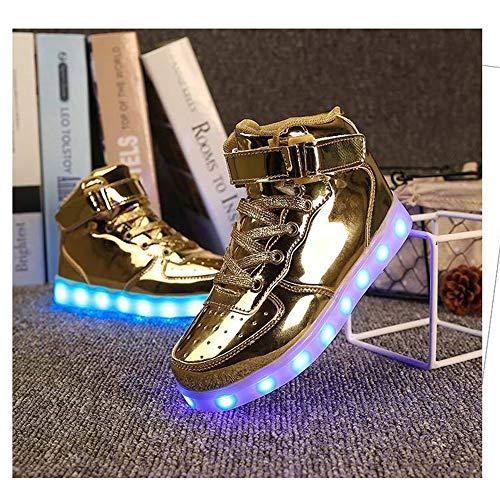 Fernbedienung farbenfrohe Strahlungsschuhe LED Leuchten Schuhe USB Laden Geister-Tanzschuhe Männer und Frauen lässige Sportschuhe,28