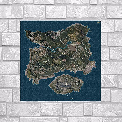 Shukqueen - Decoración para pared, diseño de mapa del juego de Pugg