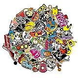 100 Aufkleber / Sticker - Retro-, Graffiti- Style, Reisen, Marken für Skateboard, Snowboard, Koffer, Notebook, Auto, Fahrrad & uvm. - Auto-Dress® (Set-5)