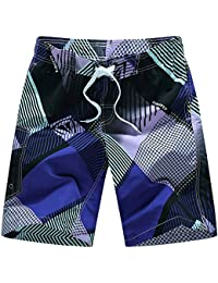 Robemon➳Plage Homme Shorts Nager Troncs Print Séchage Rapide Plage Surfing  Courir Nagerming Watershort cf6be243082