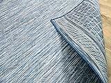 CAMPUS In & Outdoor Teppich Beidseitig Flachgewebe Hampton Blau Meliert