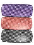 1 x Hard Glasses Spectacles Case Black Purple or Orange Polka Dot Reading
