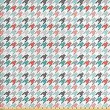ABAKUHAUS Resumen Tela por Metro, Los Motivos De Pata De Gallo, Decorativa para Tapicería y Textiles del Hogar, 3M (160x300cm), Menta Verde Oscuro Coral Rosa Claro