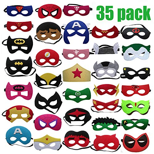 Pack Kinder Kinder Erwachsene Party Maskerade / Superhelden Maskerade Cosplay / Super Masken / Super Hero Cosplay Partei Augenmasken Filz Masken ()