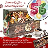 Geschenk zum 56. | Bohnen Kaffee Weihnachtskalender | Adventskalender für Sie Adventskalender für Ihn Adventskalender Herren Aromakaffee Adventskalender ganze Bohnen Adventskalender Flavoured Coffee