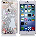 iPhone 5S Case, ISAKEN iPhone 5S Glitter Case, Unique Design Fluid Liquid Floating Flowing Bling Shiny Sparkle Glitter Fairy Girls Angel Design Crystal Clear Plastic Hard Case Protective Shell Case Cover for Apple iPhone 5S iPhone 5 - Angel Girl #15