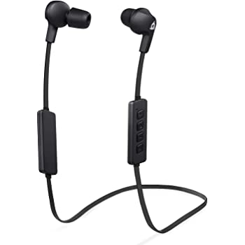 KLIM Pulse Écouteurs Bluetooth 4.1 - Nouveau 2019 - Oreillettes sans Fil avec Microphone - Réduction Sonore - Parfait pour Sport, Musique, Appels, Gaming - Nouveaux Embouts à Mémoire de Forme - Noir