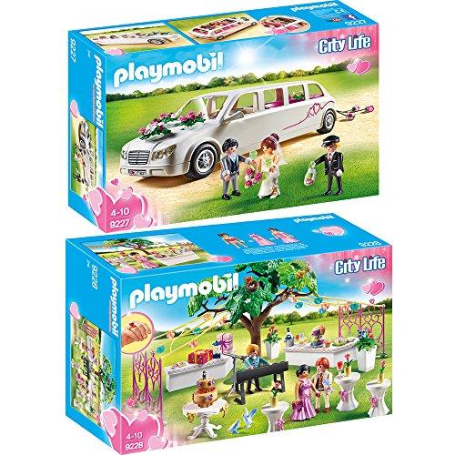 Preisvergleich Produktbild PLAYMOBIL® City Life 2er Set 9227 9228 Hochzeitslimousine + Hochzeitsparty