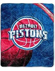 Au nord-ouest 1NBA-06500-0008-RET R-fl-chissez-Pistons NBA Sherpa Throw