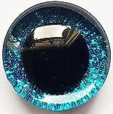 HdK-Versand  Plastik-Tieraugen Zum Stecken, Sicherheitsaugen, Puppenaugen mit Glitzer (Blau, 16 mm (4 Augen/2 Paar))