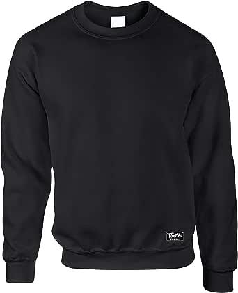 Tim And Ted Logo Premium Plain Crew Neck Jumper Sweater Sweatshirt Loose Fit