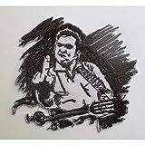 hotrodspirit Patch Johnny Cash Rock Roll Haltung 9x 8cm Wappen Blousonjacke