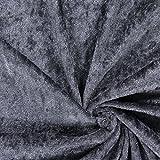 Unbekannt Pannesamt dunkelgrau — Meterware ab 0,5 m — zum Nähen von Kissen und Tagesdecken, Tischdekorationen und Outdoor-Deko
