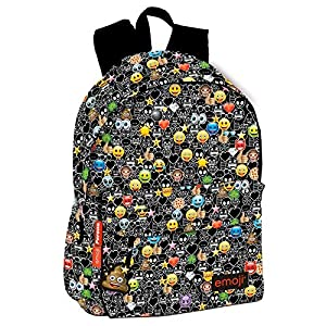 Emoji Just it – Mochila, Amarillo/Negro, 43 x 30 x 14 cm