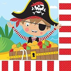 Servilletas con diseño de pirata para fiestas.