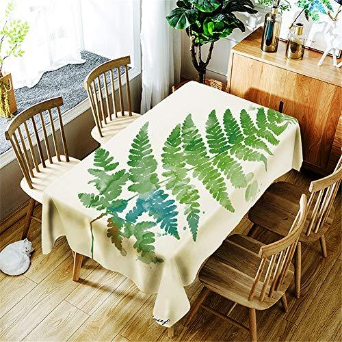 Fansu 3D Tischdecke Abwaschbar, Polyester wasserdichte Pflanzentischdecke Rechteckige Pflegeleicht Eckig Tischtuch Fleckschutz Schmutzabweisend (150 * 210,A) -