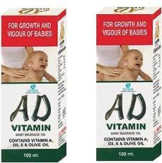 AD Vitamin Baby Massage Oil (Yellow)