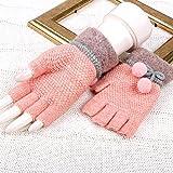 HQLCX gants Joli Doigt Mitaines Hiver Filles Réchauffer Les Doigts Mitaines Hiver,Rose