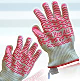 Triple Layer Design von Dampf, Wärme- und Flamme beständig Handschuhe Warrant Maximale Sicherheitleicht & flexibel, weiche Baumwolle Futter für KomfortBlau Silikon für Superb Grip Lady Small Size Hot Pink
