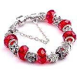 BYWWANG Bracelets Bangles with Heart Bracelet Women Jewelry