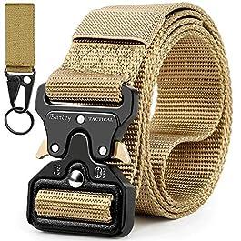 Boneke Cintura Tattica, Cintura Militare Tattica per Uomo Heavy,Tessuto in Nylon Cintura, con Sicurezza Fibbia a sgancio…