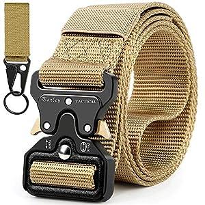 61BgUoQb%2BpL. SS300 Boneke Cintura Tattica, Cintura Militare Tattica per Uomo Heavy,Tessuto in Nylon Cintura, con Sicurezza Fibbia a sgancio…