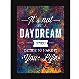 Best Frames With Quotes - Fatmug Make Dreams Your Life Quotes Wall Art Review
