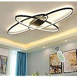 MQW Design Créatif Lustre LED Promise Gradation Télécommande Télécommande Ovale Bureau Couloir Décoration Plafonnier, Lampe D