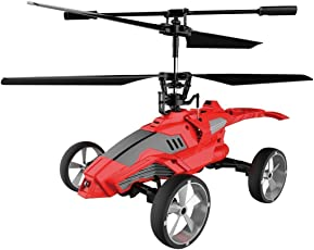 Saffire Mars Strike Transformer Remote Control 3.5 channel Helicopter with gyrd, Red