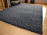 Soft Touch Shaggy Charcoal Thick Luxurious Soft 5cm Dense Pile Rug. Available in 7 Sizes (160cm x 220cm)