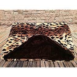 Snuggle saco/saco de dormir/Mascotas Cama para perros y gatos por de Lola Pet Lynx y chocolate