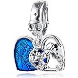 PANDOCCI 2020 Regalo di San Valentino Mouse Lady Cuore Perlina Argento 925 Fai da Te Adatto per bracciali Pandora Originali F